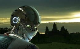Робот стильный Стоковое Изображение