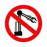 Робот стопа промышленный Рука запрета механическая Красная запрещающая дорога бесплатная иллюстрация