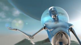 Робот с вопросами Стоковые Фотографии RF