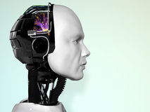 робот человека стороны Стоковые Фотографии RF