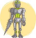 Робот шаржа вектора Бесплатная Иллюстрация