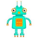 робот шаржа милый Стоковая Фотография