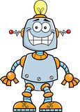 Робот шаржа усмехаясь иллюстрация вектора