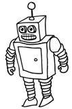робот шаржа Стоковая Фотография RF