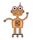 робот шаржа Стоковые Изображения