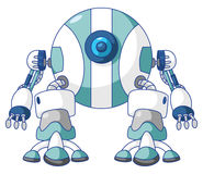 Робот шарика иллюстрация штока