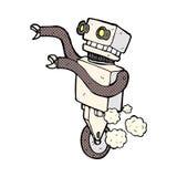 робот шуточного шаржа смешной Стоковые Фото