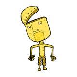 робот шуточного шаржа смешной Стоковое Изображение