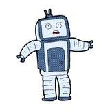 робот шуточного шаржа смешной Стоковое Фото