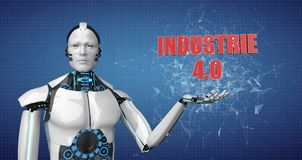 Робот Industrie 4 иллюстрация штока
