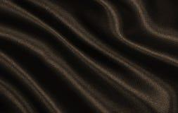 Ровная элегантная коричневая текстура шелка или сатинировки как абстрактное backgroun стоковая фотография rf
