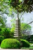 Ровная японская пагода 10 в саде Стоковая Фотография