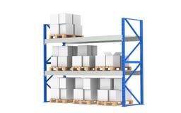 ровное средство shelves пакгауз штока Стоковое фото RF