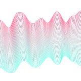 Ровные красочные волны на белой предпосылке Абстрактные пунктирные линии вектора Влияние смеси Пинк и голубая волна иллюстрация штока