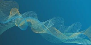 Ровные кривые нити жестикулируют творческую предпосылку бесплатная иллюстрация