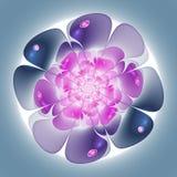 Ровный и мягкий цветок фрактали Стоковые Фотографии RF