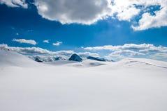 Ровный ландшафт зимы Стоковое Изображение RF