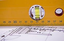 ровный метр Стоковые Фотографии RF