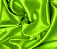 Ровный элегантный зеленый шелк Стоковые Изображения