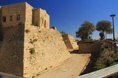 Ров замка в национальном парке Caesarea Maritima Стоковое фото RF