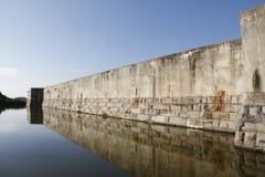Ров на национальном историческом парке штата, Key West Закари Тейлор форта, Флорида, США стоковое фото