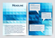 Рогулька абстрактного вектора современная, шаблон дизайна брошюры с красочной геометрической триангулярной предпосылкой иллюстрация вектора