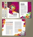 рогулька, дизайн крышки, брошюра дела Стоковое Изображение RF