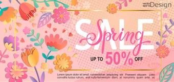 Рогулька продажи весны, знамя Стоковое Изображение