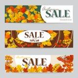 Рогулька 3 продажи осени с листьями осени Стоковые Фото