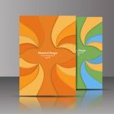 Рогулька, брошюра, плакат, годовой отчет, te вектора обложки журнала Стоковые Изображения RF