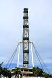 Рогулька неба Сингапура стоит на платформе Стоковые Изображения