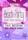 Рогулька партии пляжа лета Стоковые Изображения