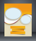 Рогулька плана, брошюра дела, шаблон рогульки, o Стоковое Изображение