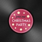 Рогулька рождественской вечеринки с показателем винила вектор Стоковые Изображения