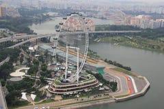 Рогулька Сингапура, одно из колеса ferris мира самого высокорослого Стоковые Изображения RF