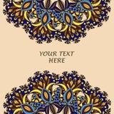 Рогулька с флористическими картиной и орнаментами мандалы Восточный шаблон плана дизайна, Стоковая Фотография