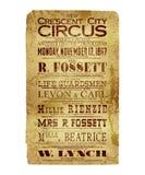 Рогулька цирка города Нового Орлеана серповидная Стоковое Изображение