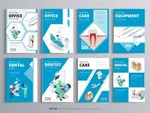 Рогульки для здоровья и медицинской концепции Шаблон flyear, кассеты гигиены, плакаты, обложка книги, знамена клиника Стоковое фото RF