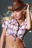 родео шлема пастушкы ковбоя Стоковая Фотография