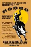 родео riding ковбоя быка иллюстрация штока