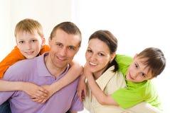 Родители с их дет Стоковое Изображение