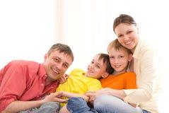 Родители с их дет Стоковые Изображения