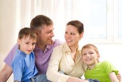 Родители с их 2 дет Стоковое Изображение RF