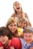 Родители с их 3 дет Стоковое фото RF