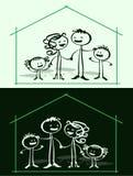 родной дом шаржа иллюстрация вектора