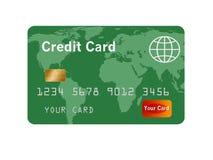 Родовой кредит или кредитная карточка изолированные на белизне иллюстрация вектора