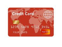 Родовой кредит или кредитная карточка изолированные на белизне иллюстрация штока