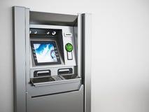Родовые ATM или банкомат иллюстрация 3d Стоковые Изображения