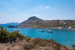 Родос, Греция - залив ` s Пола апостола, Родос, Греция стоковые изображения