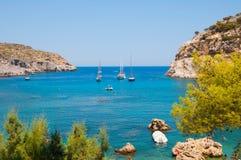 Родос, Греция - 11-ое августа 2018: Залив ` s Пола апостола, Родос, Греция стоковое фото rf